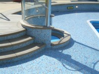 mozaik pri bazenu